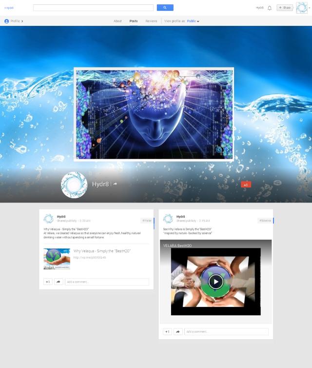 Hydr8 - Google+